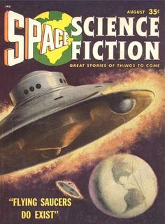 Space Science Fiction (August 1957), cover by Tom Ryan