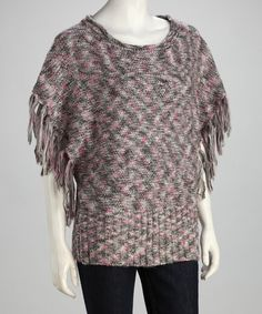 Take a look at this Pink & Gray Knit Top - Women by Wear With Flair: Women's Apparel on #zulily today!