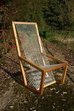 Single cord rocking chair