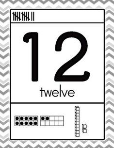 B&W Chevron number posters 0 - 30 {FREEBIE}