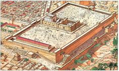 The Temple Mount in Jerusalem ~ Vincent Henin Temple Mount Jerusalem, Jerusalem Bible, Ancient Near East, In Ancient Times, Israel History, Ancient History, Roman Empire Map, Solomons Temple, Bible Pictures
