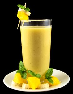 Anti-Ageing Smoothie: Banana Pineapple Smoothie is the delicious and healthy recipe of fruits smoothie.  It contains nutritious ingredients like milk, pineapple, banana, honey and spices.  This smoothie recipe has the anti-ageing properties and hence it is good for health care and skin care too. #AntiAgeing #Banana #Pineapple #Smoothie