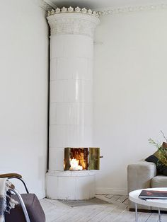 Swedish fireplace ..  desire to inspire - desiretoinspire.net - Needin' Sweden