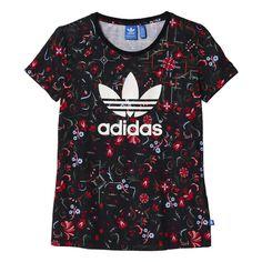 Adidas Trefoil T in Garden print #adidas #trefoil #tee #women #fashion