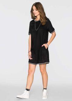 Трикотажное платье, RAINBOW, черный батик/серый