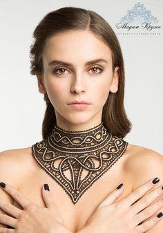Boobbin lace necklace Nefertiti russian bobbin lace by MadamKruje
