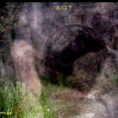 "Pinner writes: ""A picture I took well on a paranormal investigation at the Blue Ghost Tunnel. What do you see?"" This is a ghost hot-spot. I see a kneeling or squatting figure at the entrance, as well as mist in the foreground."