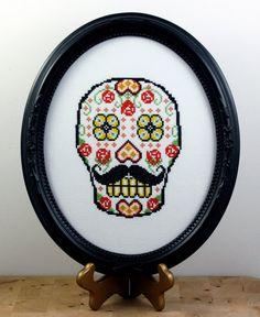 DIY Sugar Skull version 6  pdf Original Cross by bombastitch, $4.00