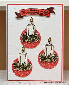JanB Handmade Cards Atelier: Christmas Candles