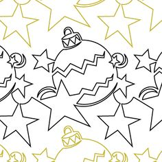 Happy Holidays quilting pantograph sewing pattern by Denise Schillinger Quilting Stencils, Quilting Templates, Longarm Quilting, Free Motion Quilting, Quilting Ideas, Machine Quilting Patterns, Quilt Patterns, Stitch Patterns, Sewing Patterns