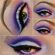Dramatic purple cut crease
