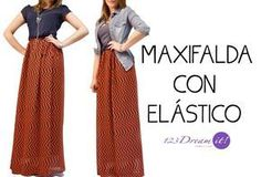 1b5274e84 Hola amores!! En este tutorial os enseño cómo coser una falda larga ...
