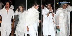 Abhishek Bachchan and Srk at Bobby Chawla Prayer Meet Prayer Meeting, Bollywood Photos, Bobby, Chef Jackets, Prayers, Coat, Fashion, Sewing Coat, Moda