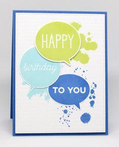 Birthday Speech Bubble Stamp Set and Die-namics, Distressed Patterns Stamp Set, Blueprints 13 Die-namics - Jody Morrow  #mftstamps