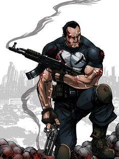 Marvel Comic Character, Comic Book Characters, Marvel Characters, Comic Books Art, Comic Art, The Punisher, Punisher Comics, Marvel Dc, Marvel Comics