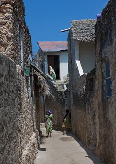Narrow streets in Pate - Lamu, Kenya  Lamu love it, go there now the restrictions are lifted