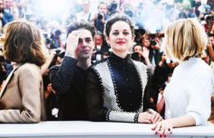 nowhollywood:  Nathalie Baye Xavier Dolan Marion Cotillard and Lea Seydoux at a photocall for Juste la fin du monde during 69th Cannes Film Festival | 19.05.2016