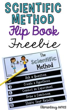 Use this Scientific Method Flip Book FREEBIE to guide your students with ANY experiment, and explain what scientists do Middle School Science, Elementary Science, Science Classroom, Science Fair, Science Lessons, Teaching Science, Science Education, Life Science, Physical Science