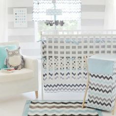 chevron nursery bedding - Google Search