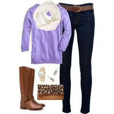 """""""Lavender & Leopard"""" by classically-preppy on Polyvore"""