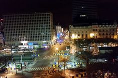 Antwerpen at night... I took a photo from hotel.