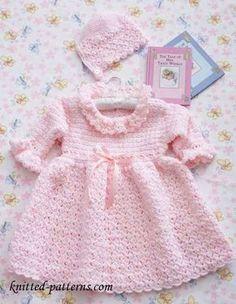 Free Crochet Christening Set Pattern
