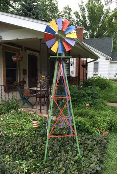 Windmill Addition to Our Garden Anniversary T to My Backyard Barn, Backyard Greenhouse, Small Backyard Landscaping, Modern Backyard, Backyard Ideas, Windmill Art, Garden Windmill, Backyard Putting Green, Garden Spinners