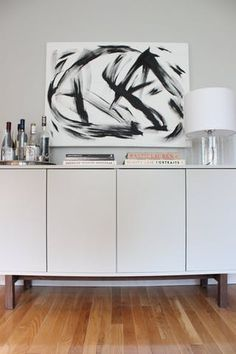 Credenza, Ikea EKET?  Beautiful home tour