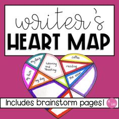 Writer's Heart Map: A Back to School Activity. Writing from your heart is the very best place to write from. Get to know your students with this back to school activity. This graphic organizer will help shape student's thinking about writing and provide a place for students to look back to when they don't know what to write about next! This resource includes 3 different variations of the graphic organizer as well as 3 variations of the brainstorm page to help students's organize their… Writing Topics, Writing Resources, Teaching Writing, Start Writing, Writing Prompts, Teaching Resources, Teaching Strategies, Writing Ideas, Map Activities
