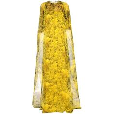 Vionnet Long Dress (€1.920) ❤ liked on Polyvore featuring dresses, yellow, sleeveless turtleneck, long dresses, sleeveless turtleneck dresses, yellow sleeveless dress and long-sleeve turtleneck dresses