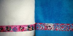TOWEL Minnie Mouse & Frozen by osewdeborah on Etsy