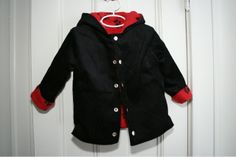 Fleece lined corduroy jacket