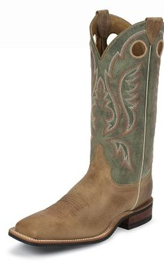 86c5399d Justin Boots Men's U. Bent Rail Collection Boot Wide Square Double Stitch  Toe Performance Performance Rubber Outsole,Arizona Tan Cowhide/Sage D US