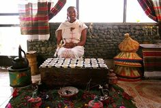 An Ethiopian coffee ceremony. Humans of Ethiopia