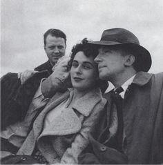 "grumble-grumble: "" Leonora Carrington with Max Ernst & Paul Éluard, Photo by Lee Miller. 1939 """