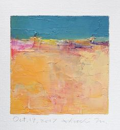 Oct. 19 2017 Original Abstract Oil Painting 9x9 painting