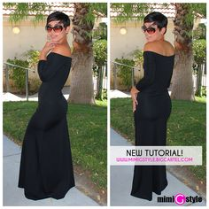 NEW TUTORIAL!!! Off The Shoulder Maxi |Fashion, Lifestyle, and DIY