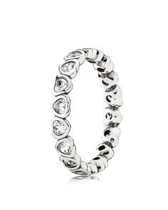 PANDORA Ring - Sterling Silver & Cubic Zirconia Forever More | Bloomingdales's