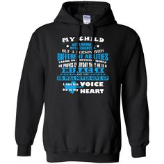 Autism T-shirts My Child With Different Abilities Never Give Up I Am His Voice He Is My Heart Shirts Hoodies Sweatshirts Autism T-shirts My Child With Different