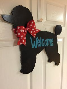 Poodle The Adorable Dog - The Pooch Online Poodle Cuts, Dog Wreath, Puppy Cut, Tea Cup Poodle, Wooden Door Hangers, Dog Hacks, Wooden Decor, Dog Grooming, I Love Dogs