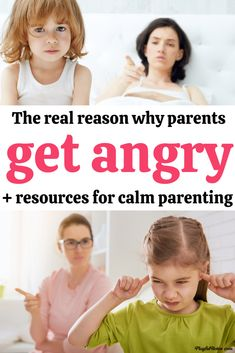 Why do parents get angry at their kids? Discover the real reason behind parenting anger and how it can make it easier for you to become a calmer parent.  - How to be a calm mom Peaceful Parent Happy Kids, Peaceful Parenting, Gentle Parenting, Good Parenting, Parenting Hacks, Parenting Courses, Act For Kids, Positive Discipline, Kids Behavior