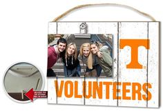 Tennessee Volunteers Clip It Weathered Logo Photo Frame