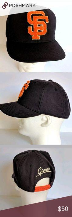 San Francisco Giants Throwback Hat Cap MLB 2 Tone Soft black ball cap with  a letterman 5dbe8c751e8f