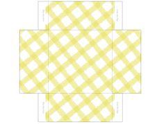 printable box templates free | Free Printable Templates: Gingham Mini Gift Boxes | Pecuniarities