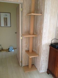 Simple Cat Tree The cat tree--installed and #TreePlan - Top 10 at - Catsincare.com! #catsdiycastle