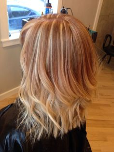 strawberry blonde hair color with blonde highlights