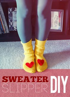 Sweater Sleeve Slippers DIY | Amy Morby :: Designer :: Writer