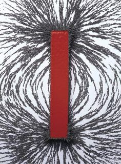Magnetic fields were first defined in such a way that iron filings will point in the direction of (what became defined as) the field.  The reason why filings point in the direction of the field is a little round about, but luckily the physics turned out pretty clean.