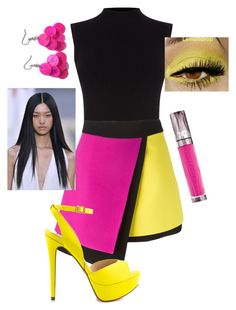 """""""Pink and Yellow Retro"""" by thebecster on Polyvore featuring Oasis, FAUSTO PUGLISI, ALDO, Retrò and Urban Decay"""