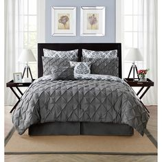 Update your bedding with the Heather 8pc Comforter Set. Complete with everything you need,